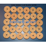 "CORK RINGS 11/4""X1/2""  FLOR BLACK STAINS"